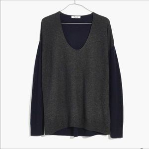 Madewell Kimball Pullover Colorblock Sweater Sz S